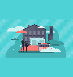 real estate business concept vector image