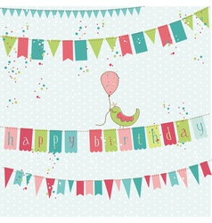 retro birthday card vector image