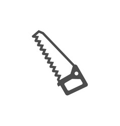 saw black icon garden tool equipment and vector image