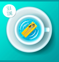 sea time concept vacation vector image