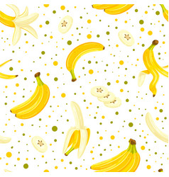 seamless pattern with a set bananas vector image