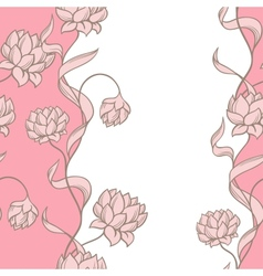 Seamless pattern with abstract flowers vector image