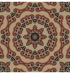 Seamless Tibet style mandala Oriental vintage art vector