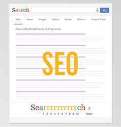 Search Engine SEO vector