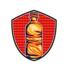 Soda Cola Water Bottle Retro Crest vector
