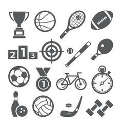 sport icon set on white background vector image
