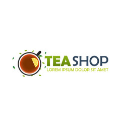 Tea shop logo company tea logo logo vector