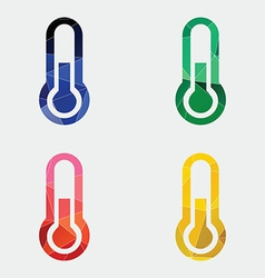 thermometer icon Abstract Triangle vector image