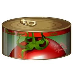 Tomato juice in aluminum can vector