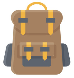 Travel backpack icon summer vacation related vector