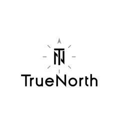 True north compass logo idea vector