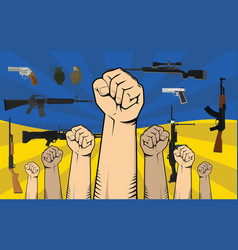 ukraine protest with single hand vector image