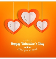 Valentines day typographical background with vector image