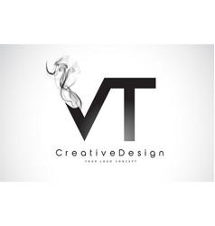 Vt v t letter logo design creative icon modern vector