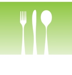 White cutlery silhouette vector