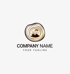 wood logo template vector image