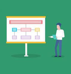 worker presenting scheme presentation vector image