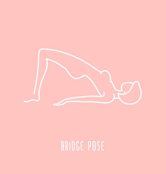 Yoga pose line icon vector