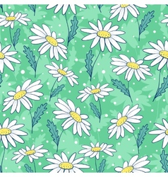 Beautiful camomile flowers seamless pattern vector image vector image