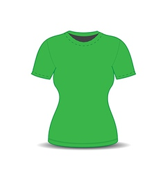 Blank t shirt template vector image vector image
