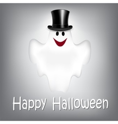 Halloween Background with Ghost vector image