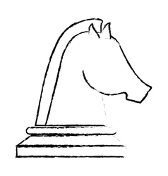 horse chess icon vector image vector image