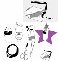 house objects vector image vector image