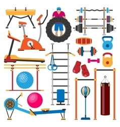 Sport gym equipment vector image