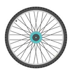 bicycle wheel in flat style vector image