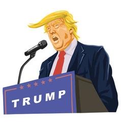 Donald Trump Giving A Speech vector image vector image