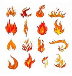 Fire icon sketch vector image vector image