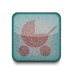 Baby pram icon vector image vector image