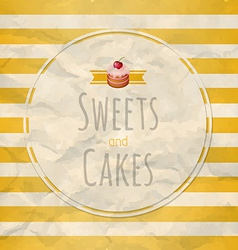 Cakes Label vector image