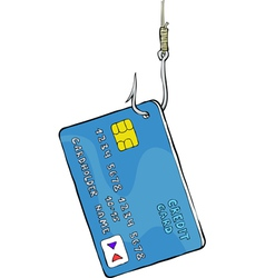 credit card on the hook vector image