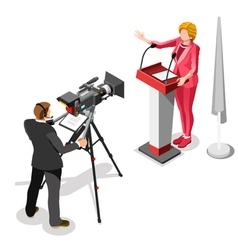 Election News Infographic Us Spokeswoman Isometric vector image vector image
