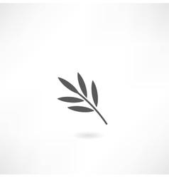 leaf tree icon vector image vector image