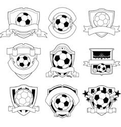 soccer badge vector image