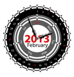 calendar for 2013 vector image vector image