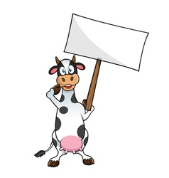 cow protesting vector image vector image