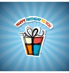 Happy Birthday Blue Background vector image vector image