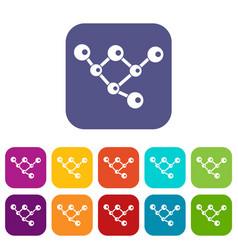 molecule structure icons set vector image vector image