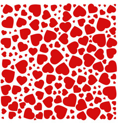 red purple heart pattern of the icons of hearts vector image vector image