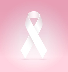 white ribbon vector image vector image