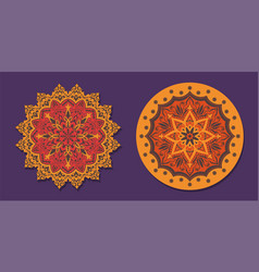 a set of mandalas for yoga and meditation with vector image