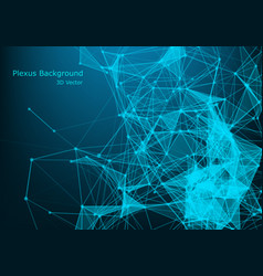 abstract polygonal space low poly dark background vector image
