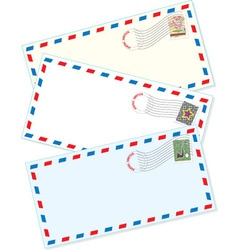 air mail envelopes vector image