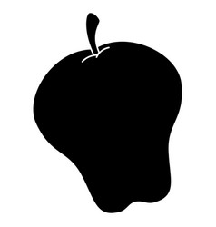 apple fresh isolated icon vector image
