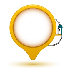 Banner circle point with fuel dispenser vector image