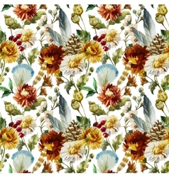 Boho flowers vector image