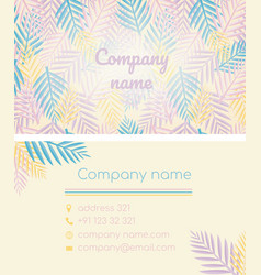 Business card in a tropical style vector
